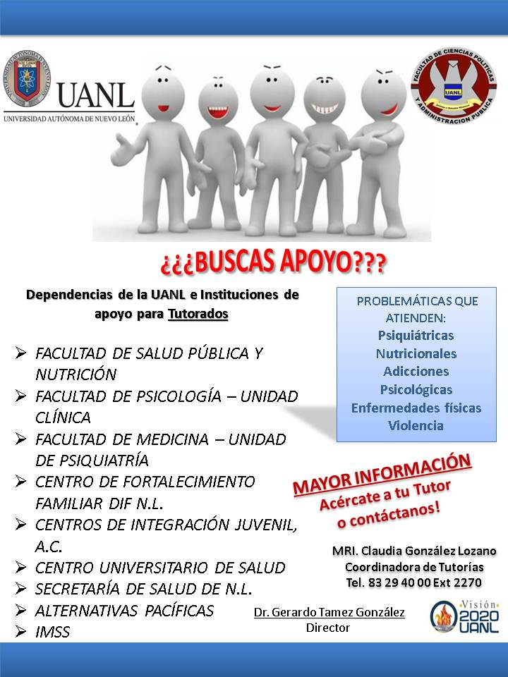 Poster Dependencias de Apoyo Tutorías 2016