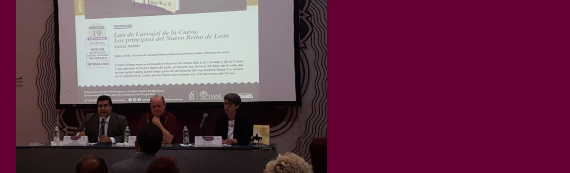 """Presentación del libro """"Los principios del Nuevo Reino de León"""""""