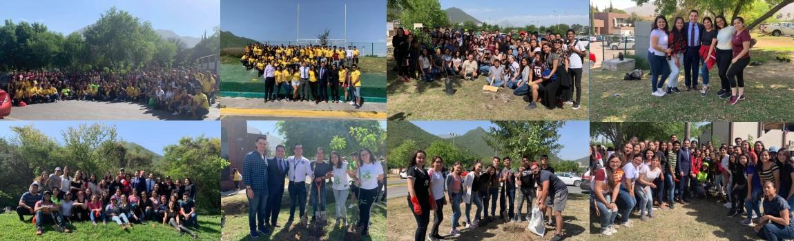 Brigada de Limpieza y Reforestación en las áreas verdes de la FCPyRI
