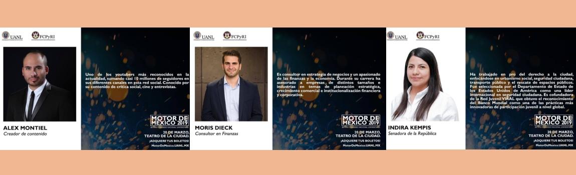 Te presentamos parte de los conferencistas de la Séptima Edición de Motor de México.