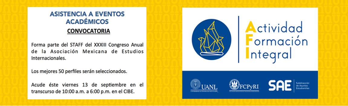 """Estudiantes que seleccionaron """"Asistencia a Eventos Académicos """".  ¡La siguiente información es para ti!"""